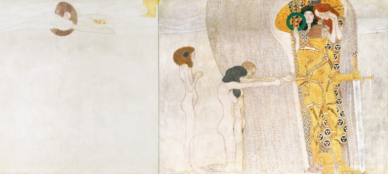 Gustav Klimt, Beethoven Frieze: Genii, Suffering Humanity, Knight in Shining Armor