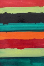 Mary Heilmann, Offshore, 2004, oil on canvas , 50,16 x 34,75 cm, Vienna Secession