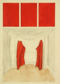 Franz Erhard Walther, Sockel, 1989, water color, pencil on paper, 29,6 x 21 cm, Secession Vienna