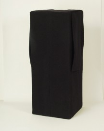 Erwin Wurm, Untitled, 1990, wooden block, covered with black cloth, 83 x 33 x 33 cm, Vienna Secession
