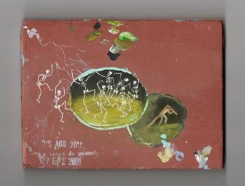 Francis Alÿs, Le temps du sommeil, (1996–), 111 paintings, oil, encaustic, crayon, collage on wood, ca. 11,5 x 15,5 cm. Courtesy the artist and Galerie Peter Kilchmann, Zurich